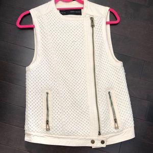 Zara Knit Cream Vest
